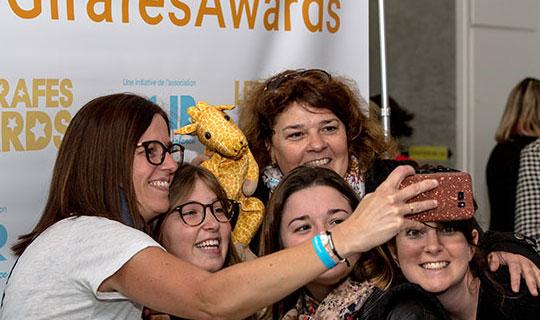 Selfie de groupe aux Girafes Awards