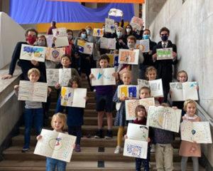 Enfants dessinateurs au Palais de Tokyo