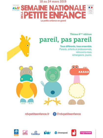 Affiche Semaine Nationale de la Petite Enfance 2019